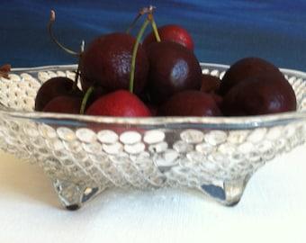 Hob Nail Glass bowls Unusual Vintage textured bubbles glass bowl Candy dish fruit bowl