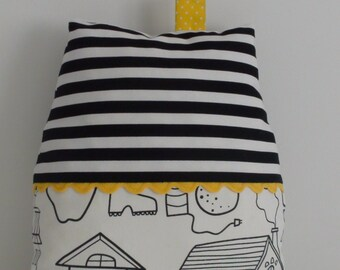 Fabric house pillow,nursery, home decor, soft toy