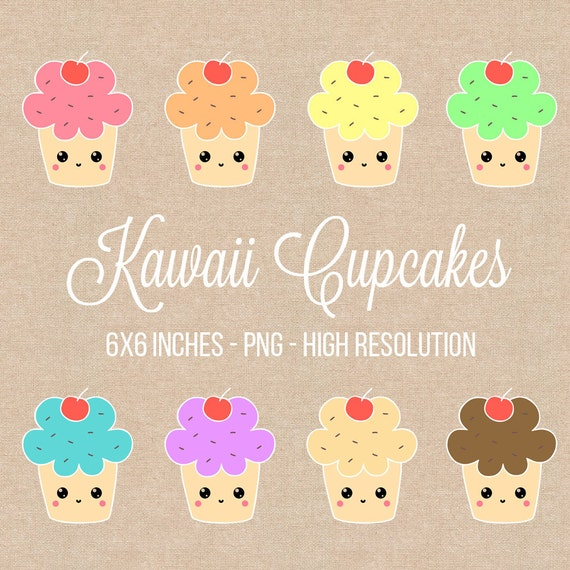 Cupcake Clipart With Faces Cupcake Clipart Cute Clip