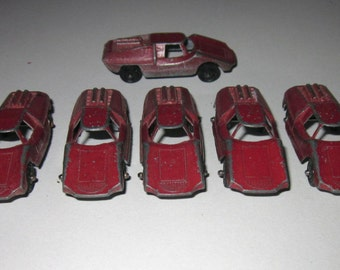 Eight Tootsie Diecast Fiat Cars from the 60's