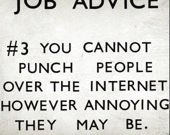 work / new job card