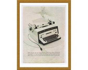 "1960 Royal Electric Typewriter Print AD / Manual Desk Office Work Secretary / 9"" x 13"" / Original Advertisement / Buy 2 ads Get 1 FREE"