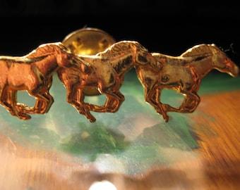 RUNNING GOLDEN HORSES- Running Pin