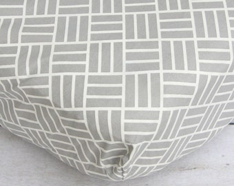 15% OFF SALE- Mod Gray Crib Sheet
