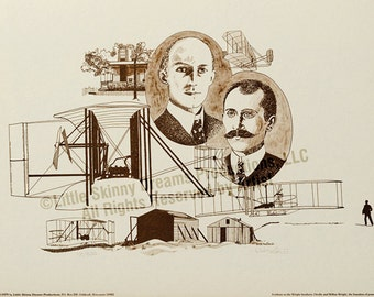 LIQUIDATION SALE! Tribute Print: The Wright brothers, Orville and Wilbur Wright, the founders of powered flight.
