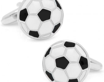 Soccer Themed Executive Cufflinks Cuff Links