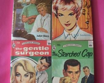 4 Vintage Harlequin Romance Paperback books