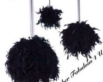"6"" Feather Kissing Ball,Feather Ball,Feather Pomander,Party Decorations,Wedding Decorations, Sweet 16  Decorations, Hanging decorations"
