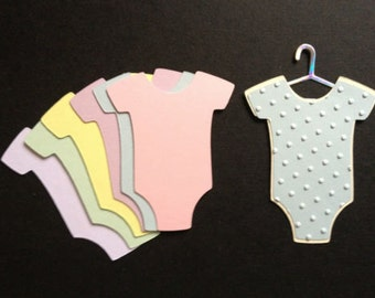 20 Baby Vest/ vests die cuts for cards/toppers cardmaking scrapbooking craft project