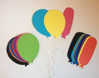 15 Large XL bright balloon die cuts for cards toppers - 2 sizes cardmaking scrapbooking - craft project