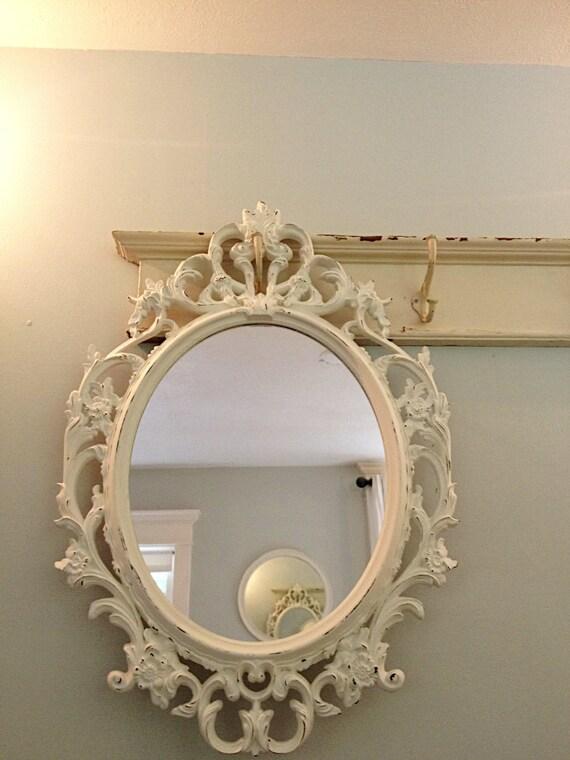 Baroque mirror bathroom mirror ornate shabby by farmhousefare for Baroque style bathroom