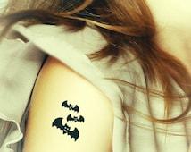 Bats temporary tattoo.Helloween Tattoo .