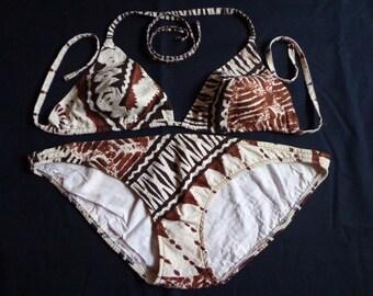 1970's Bikini Hawaiian Tiki two piece swimwear