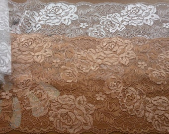 DIY Lace ribbon ,Ivory Lace Fabric,Vintage Lace Ribbon - White Floral Lace, Wedding Lace