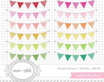Pennant Banners // PNG // Instant Download