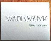 Funny Anniversary Card. Boyfriend Card. Black and Green. Funny Valentine. SALE!
