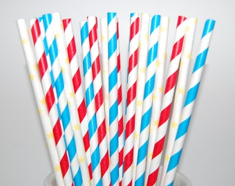 Wonder Woman Paper Straw Assortment - 20/Pack