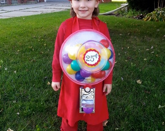 Gumball Machine Halloween Costume (for adult or child)