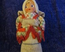 Hanson Dishcloth Doll - Hungarian Crochet Doll with painted face