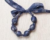 Silk fabric beaded bracelet (19)