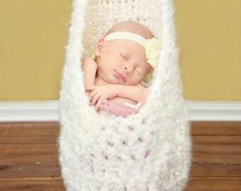 Crochet Hanging Cocoon Photo Prop
