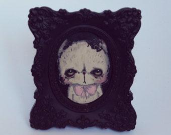 """shepurr - """"Innocence"""" Framed original acrylic painting"""
