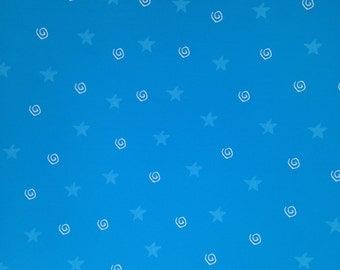 12x12 Turquoise Stars & Swirls Paper