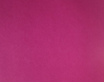 12x12 Double Sided Solid Raspberry Paper