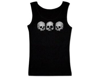 Men's Pirate Tank Top - 3 Skulls