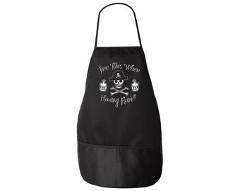 Pirate Apron - Time Flies When You're Having Rum