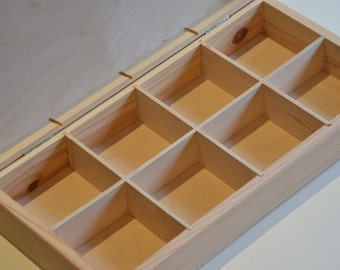 Box With Compartment Etsy