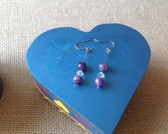 Purple passion earrings