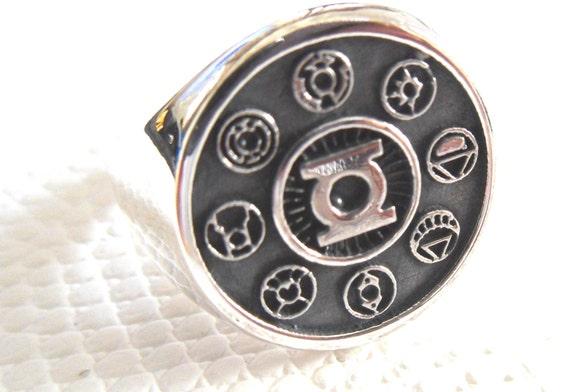 Green Lantern Corps Ring Sterling Silver 925