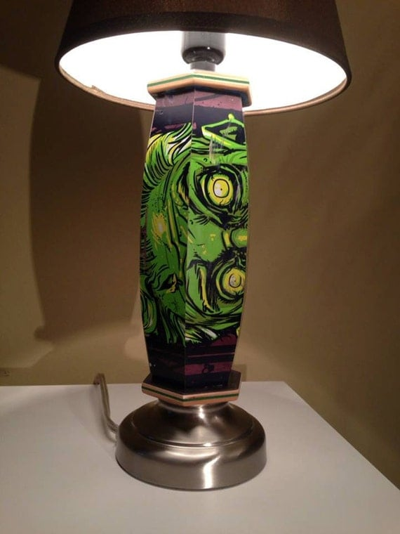 Zombie Lamp Made From A Recycled Skateboard Deck By 7ply