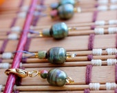 Gyokuro Green Tea Stitch Markers - LittleKnittyBird