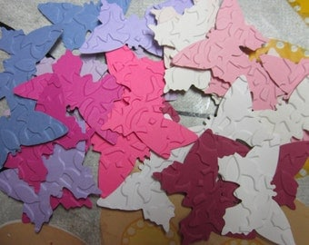 embossate paper butterflies 30 pieces