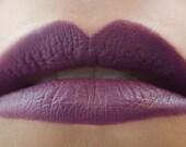 Abracadabra : a bold, semi-matte, vegan, opaque dark eggplant purple lipstick
