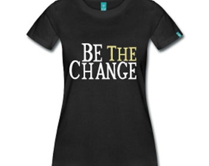 Be The Change Black Empowerment Ferguson Women's Fitted T-Shirt - Black