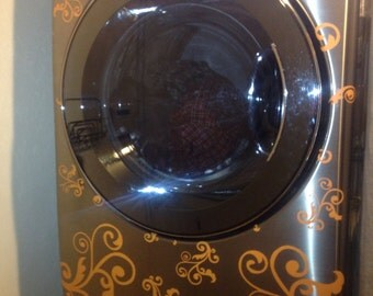 Vinyl Decals for Washer and Dryer