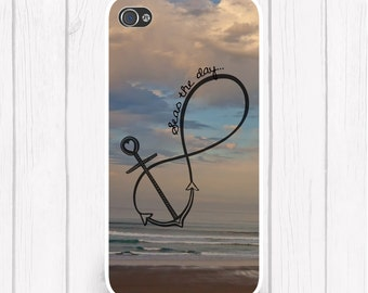 Seas the Day Anchor Infinity Nautical Personalized Phone Case Nautical  iPhone 5 iPhone 5S iPhone 5C iPod iPhone 4/4S iPhone 6 iPhone6