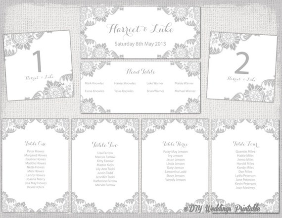 Wedding Seating chart template Silver Gray Antique – Seating Chart Template Word