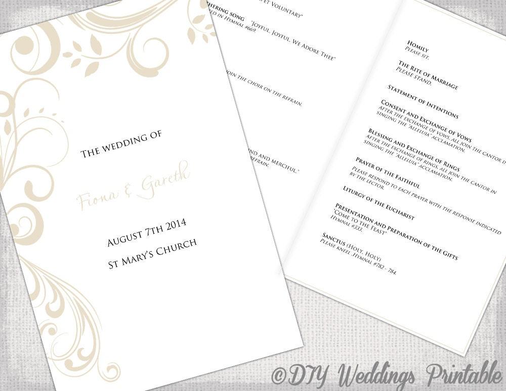 Free Wedding Program Templates For Publisher Wedding Program Templates