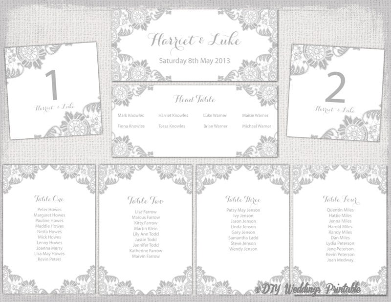 table seating chart template - Free Printable Wedding Seating Chart Template
