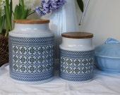 Two beautiful Hornsea Storage Jars in 'Tapestry' design