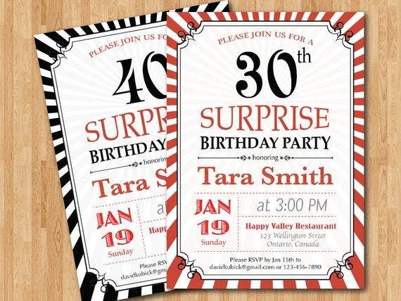 Geburtstag Einladung. 30. 40. 50. 60. Jeden Alters.