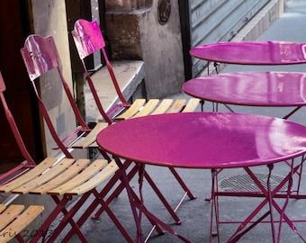Paris Cafe, Paris Photography, Paris Photo, Pink Cafe, Paris Pink Cafe, Paris Decor, Kitchen, Kitchen Decor