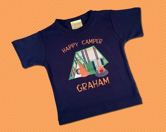 Boy's Happy Camper Shirt with Embroidered Name