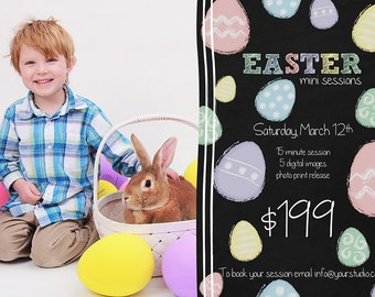 Easter Mini Session Template, Easter Template, Easter Sale, Template Sale, Easter Minis Template,
