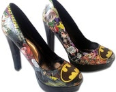 Batman High Heels Custom Made Shoes