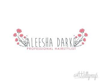 Premade logo , Photography logo, floral logo and Watermark - Rose bush